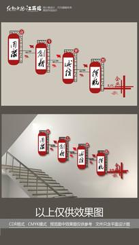 创新诚信楼梯文化墙展板