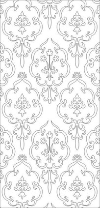 简式灯笼花纹雕刻图案