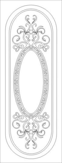 镜花雕刻图案