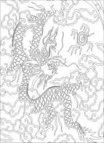 龙戏珠雕刻图案