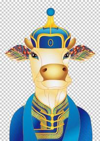 民族特色的插画牛