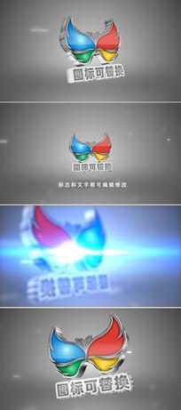 三维立体logo开场片头模板