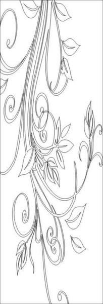 时尚花纹雕刻图案