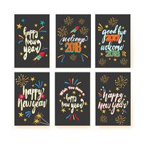 新年卡片英文字体设计