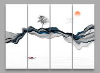 新中式禅意水墨画