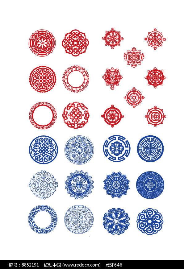 圆形的传统花纹图片