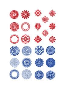 圆形的传统花纹 AI