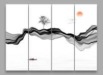 中式禅意水墨画挂画