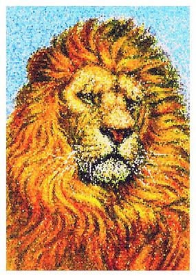 霸气的金毛狮王绘插画 PSD