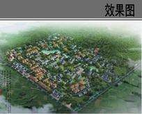 城镇安置小区规划设计鸟瞰图 JPG