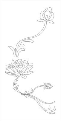 抽象荷韵雕刻图案 CDR