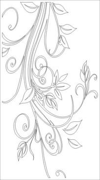 春花雕刻图案 CDR