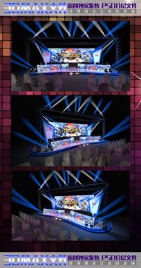 动漫王者荣耀3D舞台效果图