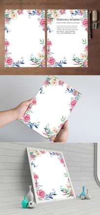 古典花卉欧式信纸