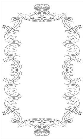 花边纹雕刻图案