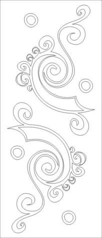 卷纹雕刻图案 CDR