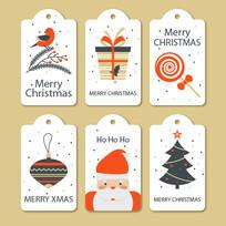 卡通圣诞节吊牌标签矢量素材 AI