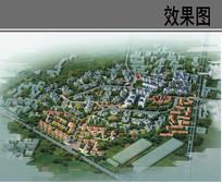 美丽乡村安置小区规划鸟瞰图 JPG