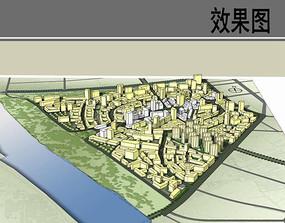 美丽乡村规划模型图