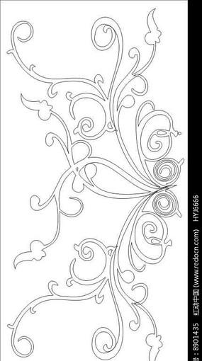 美式田园淡雅花朵花纹墙纸 欧式美式床cad 下载 整木法式美式护墙板工图片