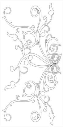 美式花纹雕刻图案 CDR