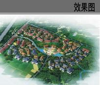 农村景观规划鸟瞰图