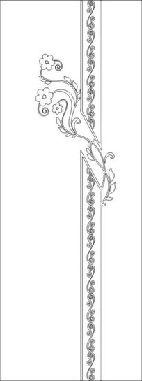赏花雕刻图案