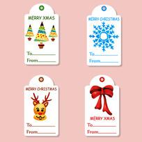 圣诞节吊牌标签素材 EPS