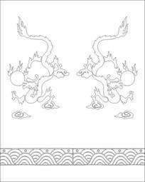双龙雕刻图案