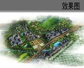 乡村风景区规划鸟瞰效果图