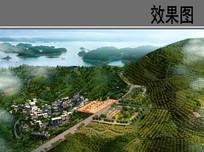 乡村规划设计整体鸟瞰效果图 JPG