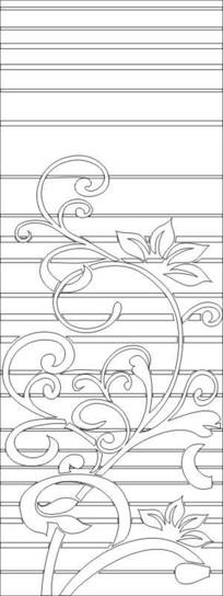 线条花纹雕刻图案