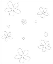 小花朵朵雕刻图案