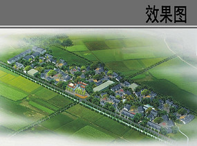 新农村规划鸟瞰图 JPG