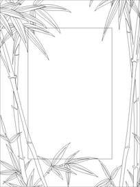 竹报平安雕刻图案 CDR
