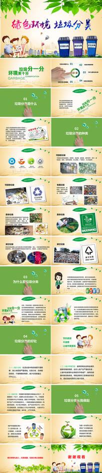 保护环境垃圾分类环保PPT