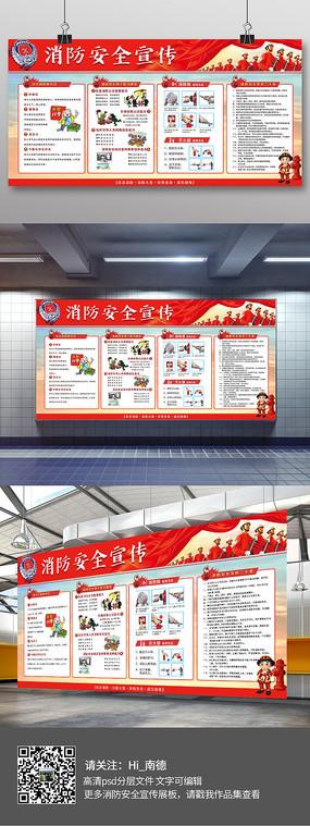 大气消防安全宣传展板