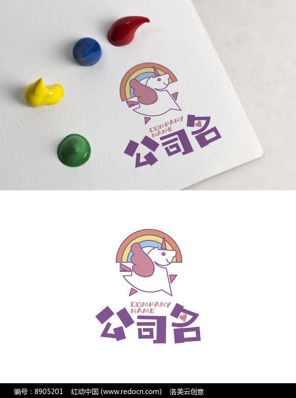 儿童卡通动物彩虹logo图片