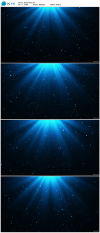 蓝色光芒led大屏背景视频