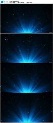 蓝色粒子晚会背景视频