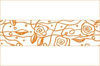 欧式韵律花纹移门图案