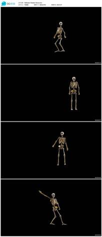 4k骷髅跳舞视频