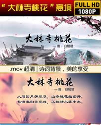 大林寺桃花诗词背景视频