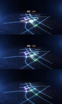 大气震撼科技地图区位AE模版