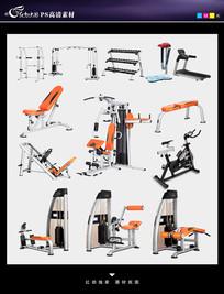 健身器材PSD素材 PSD