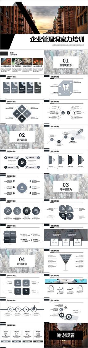 企业管理洞察力培训PPT模板