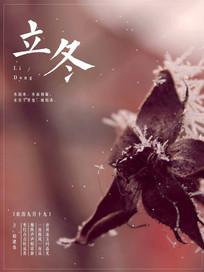 文艺唯美中国风立冬宣传海报