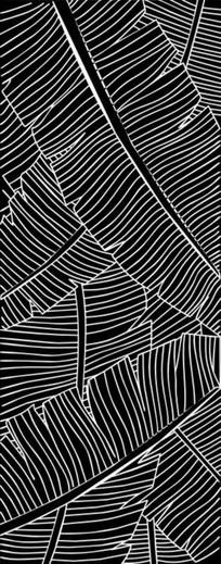 芭蕉叶雕刻图案