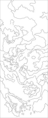 抽象地图雕刻图案