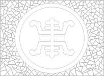 抽象皇冠雕刻图案